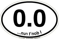 0.0 Black Marathon Oval Car Magnet