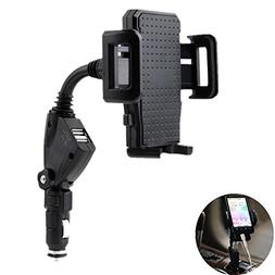 3-in-1 Cigarette Lighter Car Phone Holder Charger, Leagway C