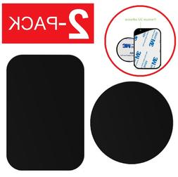2-Pack Replacement Mount Metal Adhesive Plate for Magnetic P