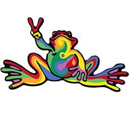 Peace Frogs 21989 Retro Frog Car Magnet, Multicolored