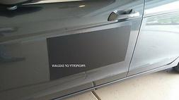 "24""x12"" Blank BLACK VINYL Car Magnet Sign 30 mil thick - MAC"