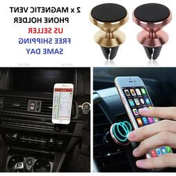 2Pk Car Mount Magnetic Air Vent Stand GPS Cell Phone Holder
