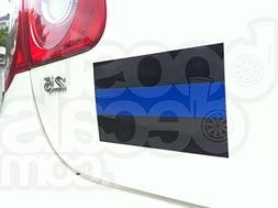 """3""""x5"""" Magnetic Thin Blue Line Reflective Police Blue Lives M"""