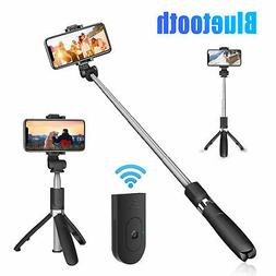 Extendable Selfie Stick Monopod Wireless Bluetooth Remote Sh