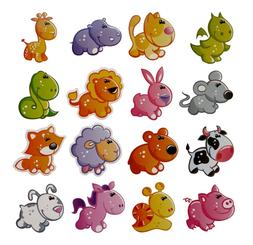 3D Cartoon Animals Fridge <font><b>Magnet</b></font> Souveni