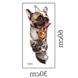 Rumas® 3D DIY Pet Fridge Sticker, Creative Refrigerator Dec