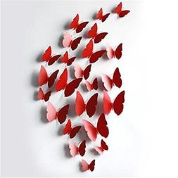 AxiEr 12 Pcs 3D Wall Stickers Butterfly Fridge Magnet for Ho