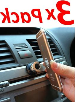 3x Magnetic 360° Car Dash Mount Ball Dock Holder For Cell P
