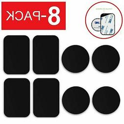 8-PACK Metal Plates Adhesive Sticker Replace For Magnetic Ca