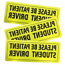 Advgears Set of 3 Student Driver Stickers Magnet Car Safety