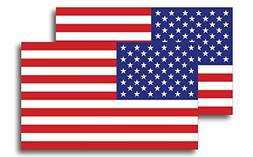 American Flag Magnet Decal 5 inch x 3 Inch 2 Pack - Heavy Du