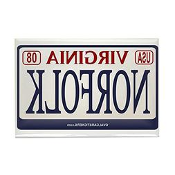 "CafePress - Norfolk License Plate - Rectangle Magnet, 2""x3"""