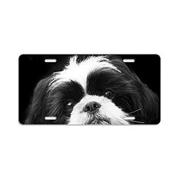 CafePress - Shih Tzu Dog - Aluminum License Plate, Front Lic