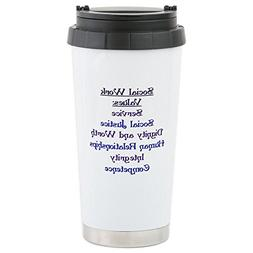 CafePress - Social Work Values - Stainless Steel Travel Mug,
