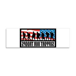 CafePress - Support our troops - Infantry Car Magnet 10 x 3