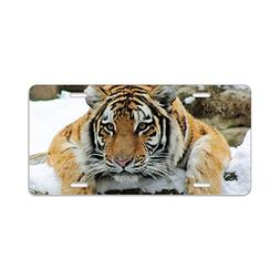 CafePress - Tiger Watch Aluminum License Plate - Aluminum Li