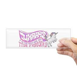 "CafePress - Unicorn Sparkle - 10""x3"" Rectangle Bumper Sticke"