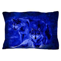 "CafePress - Winter Wolves  - Standard Size Pillow Case, 20""x"