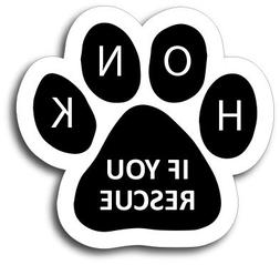 Pawprint Car Magnet Paw Print Auto Truck Decal Magnet Magnet Me Up Who Rescued Who
