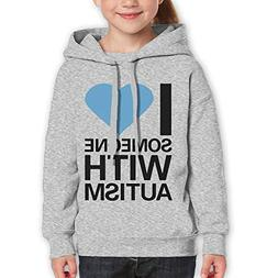 I Love Someone with Autism Funny Print Youth Boys and Girls