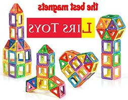 LIRS TOYS 30-pcs: Magnetic Blocks, Magnetic Tiles, Building