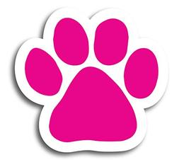 Magnet Me Up Blank Pink Pawprint Car Magnet - 2x7 Paw Print