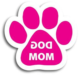 Magnet Me Up Dog Mom Pink Pawprint Car Magnet - 2x7 Paw Prin