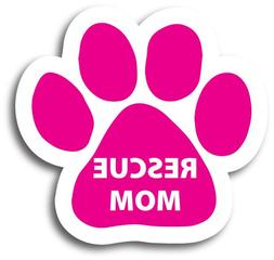 Magnet Me Up Rescue Mom Pawprint Car Magnet Paw Print Auto T