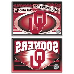 """Oklahoma Sooners Official NCAA 2""""x3"""" Car Magnet 2-Pack"""