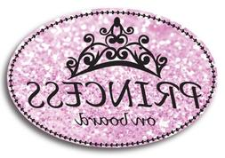 Princess On Board Oval Car Magnet Heavy Duty Waterproof