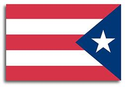 Puerto Rican Flag Car Magnet Decal - 4 x 6 Heavy Duty for Ca