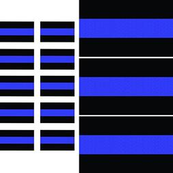Reflective Thin Blue Line Decals  & License Plate Stickers