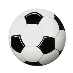 Soccer Ball Round Printed Car Magnet