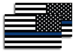 Thin Blue Line American Flag Magnet Decal 5 inch x 3 Inch 2