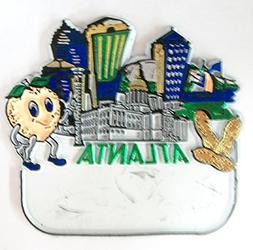Used Atlanta Georgia Souvenir Fridge Magnet With Blank Name