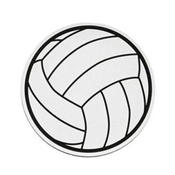Volleyball Round Printed Car Magnet