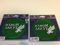 "A30 LOT OF 2 NEW WinCraft North Texas Mean Green 5"" Die-Cut"