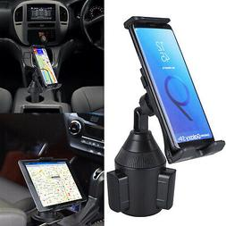 Adjustable Long Arm Car Cup Holder Mount Stand for iPad Sams