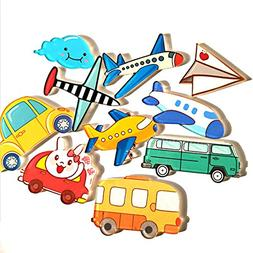 10 Piece Airplane Car Fridge Magnets Stickers Magnets Refrig