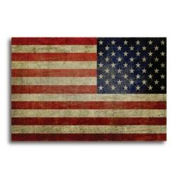 American Flag Car Magnet Decal Weathered Look 4 x 6 in Heavy