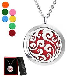 Aromatherapy Diffuser Locket Necklace, Faetin Essential Oil