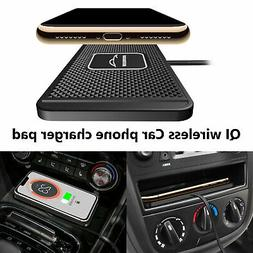 Qi Wireless Car Phone Charger Fast Charging Pad Non-Slip Mou