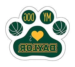 BAYLOR BEARS BASKETBALL PAW MAGNET-BAYLOR BASKETBALL DOG PAW