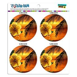 Graphics and More Beach Sunset Hibiscus Flower Hawaiian MAG-