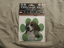 "Beagle Dog Paw Car Fridge Locker Truck Flexible Magnet 5"" UV"