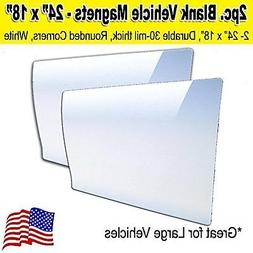 "2 pack 18""x24"" blank car magnets"