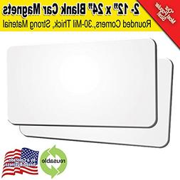 """2 Pack 18""""x24"""" Blank Car Magnets"""