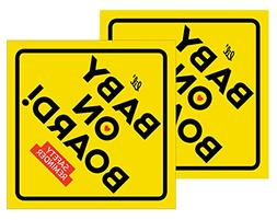 Lil' Labels Baby on Board Safety Reminder Magnets - New Pare
