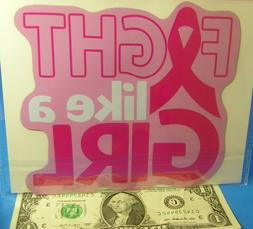 Breast Cancer Awareness Pink Ribbon FIGHT LIKE A GIRL Refrig