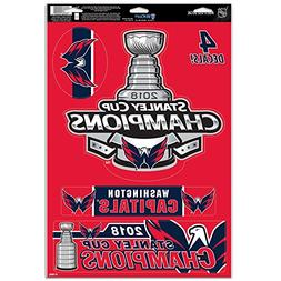 """Official Capitals 2018 Stanley Cup Champions 11"""" x 17"""" Multi"""